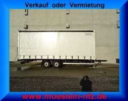 huifzeil aanhanger Möslein TPZ 11  Tandem Schiebeplanenanhänger 2008