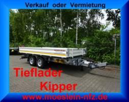 kipper vrachtwagen > 7.5 t Möslein TTD 13 Weiß  13 t Tandem 3- Seitenkipper Tieflader-- Neufahrzeug -- 2020