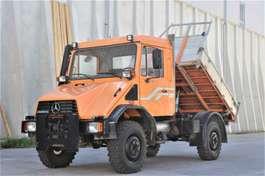kipper bedrijfswagen Unimog U 140 4x4 Kipper Platte f. Schneepflug 1995