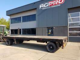 platte aanhanger vrachtwagen Jumbo 2 as bladgeveerd