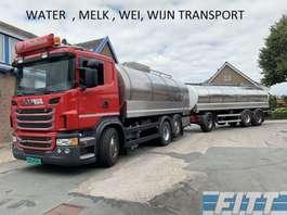 tankwagen vrachtwagen Scania G440 6x2 16.000L RVS ISO Tank icm Burg 06 ahw 20.000L RVS ISO Tank 2013