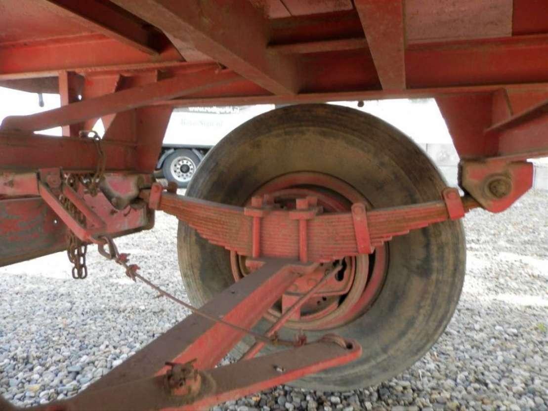 platte aanhanger vrachtwagen onbekend 2-assige aanhangwagen