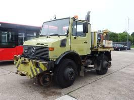open laadbak vrachtwagen Unimog 427/12 U 1600 Road & RAIL way Schiene Zweiwege S 1990