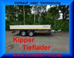 kipper vrachtwagen > 7.5 t Möslein TTD 11 Weiß  Tandem 3- Seitenkipper Tieflader-- Neufahrzeug -- 2020