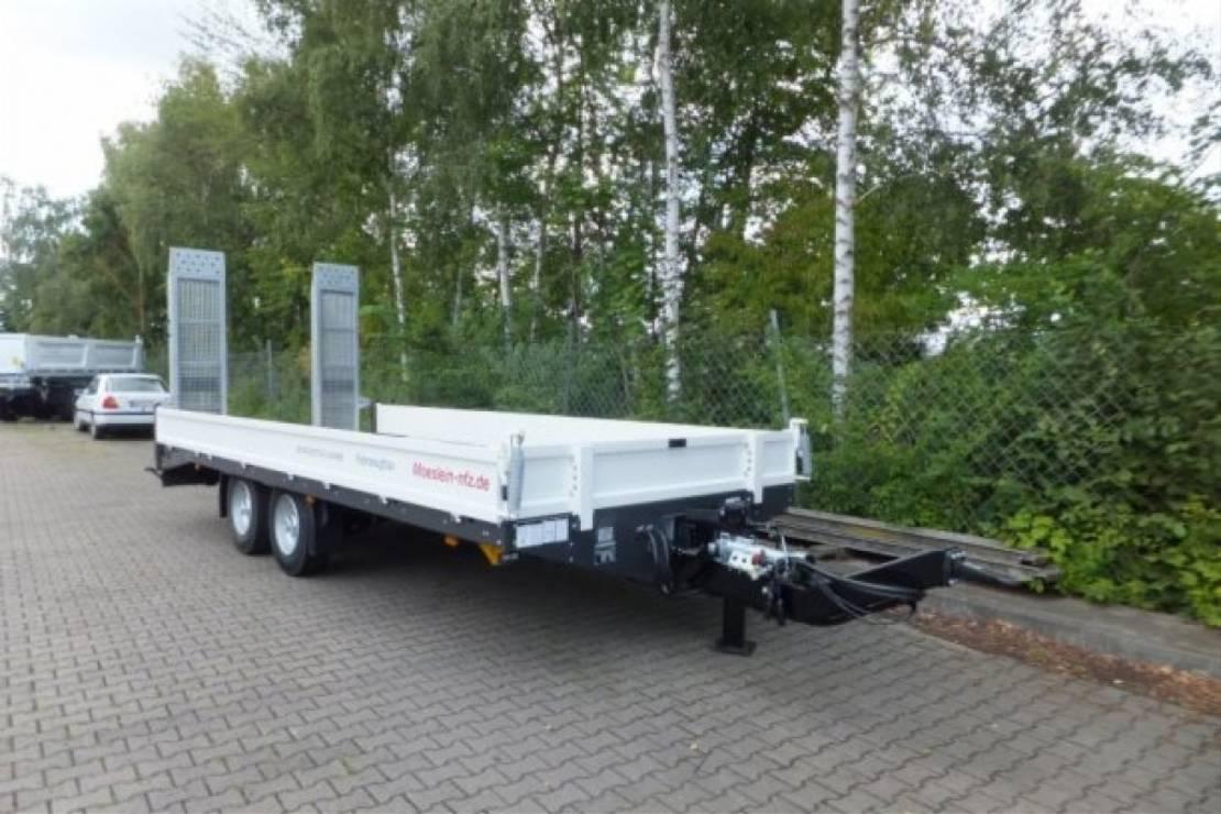 dieplader oplegger Möslein TTT 11- 6,28 Weiß  Neuer Tandemtieflader 2021
