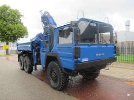 leger vrachtwagen MAN KAT  7T  MIL GLW 6x6 kipper/ crane 1982