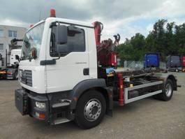 containersysteem vrachtwagen MAN TGM 18.240 BB, ABROLLKIPPER MIT KRAN 2007