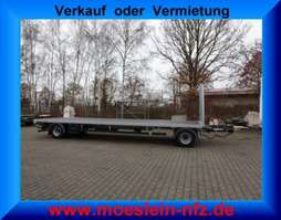platte aanhanger vrachtwagen Möslein T 2 Plato 8,6m  2 Achs Jumbo- Plato- Anhänger 2020