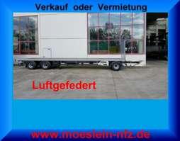 platte aanhanger vrachtwagen Möslein T 3 Plato 9 m  3 Achs Jumbo- Plato- Anhänger 2020