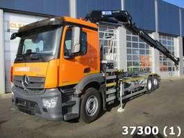 containersysteem vrachtwagen Mercedes Benz Antos 2540 Euro 6 HMF 21 ton/meter laadkraan 2017