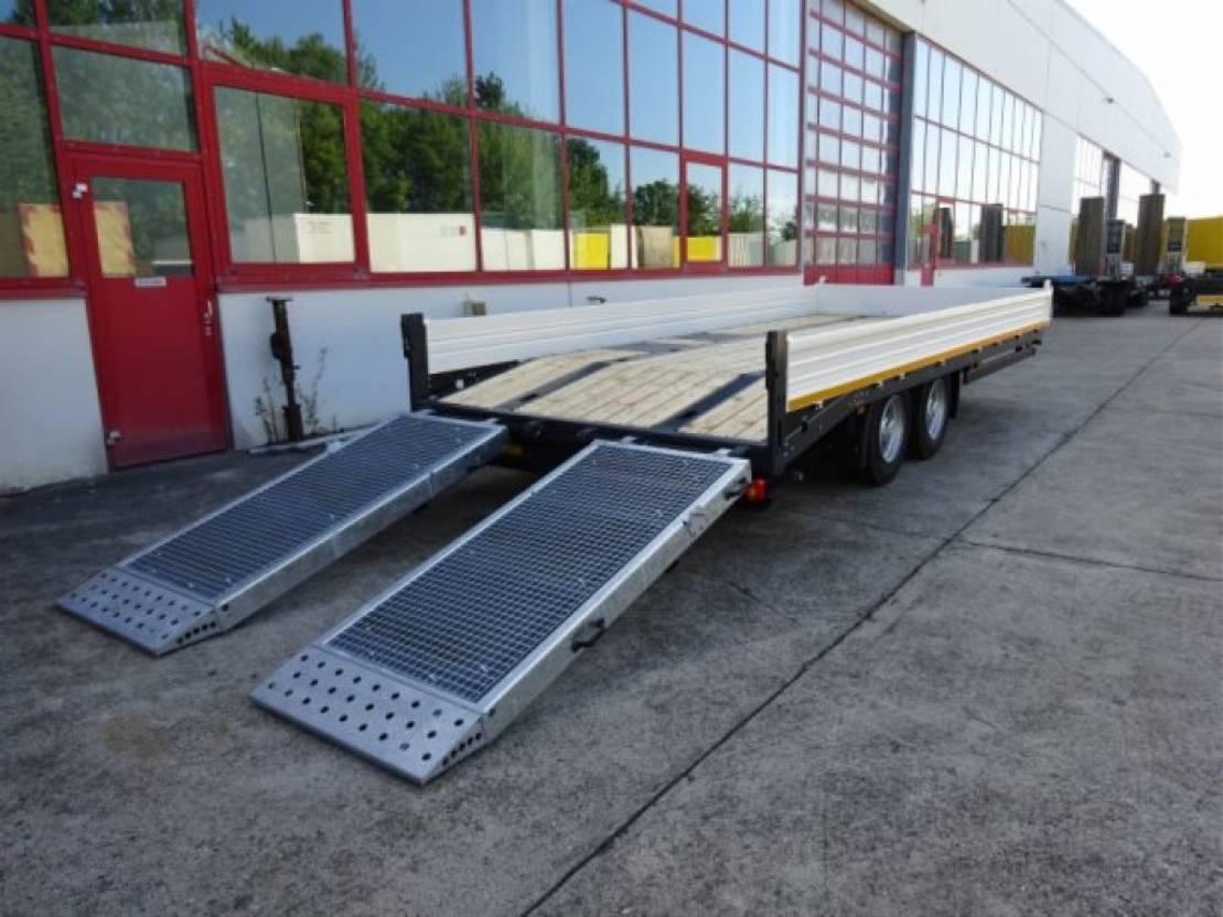 dieplader oplegger Möslein TTT 11-6,2 BR Weiß  Tandemtieflader mit breiten RampenNeufahrzeug 2021