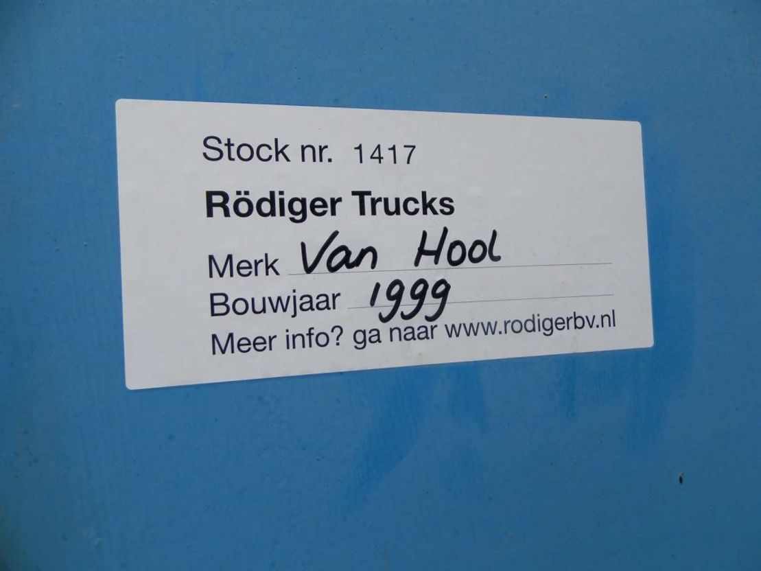 platte oplegger Van Hool 3-assige oplegger 1999