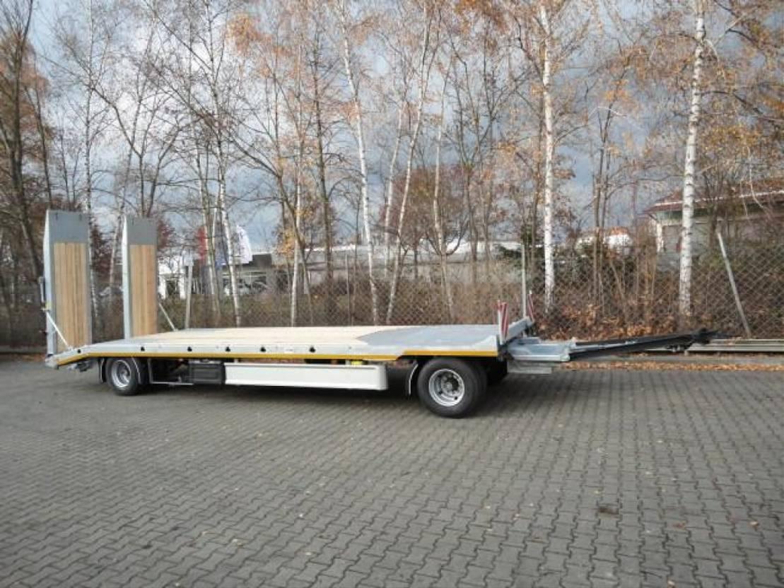 dieplader oplegger Möslein T 2 P  2 Achs Tieflader- Anhänger mit gerader Ladefläche, Neufahrzeug 2021