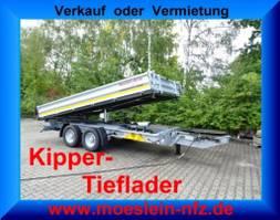 kipper vrachtwagen > 7.5 t Möslein TTD 13 Verzinkt  13 t Tandem 3- Seitenkipper Tieflader-- Neufahrzeug -- 2020