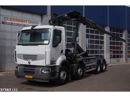 containersysteem vrachtwagen Renault Premium 460 DXI 8x4 Retarder Hiab 24 ton/meter laadkraan 2014