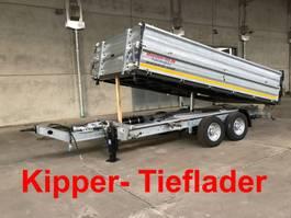 kipper vrachtwagen > 7.5 t Möslein TTD11- BA Verzinkt  Tandem Kipper Tiefladermit Bordwand- Aufsatz-- Neufahrz 2020