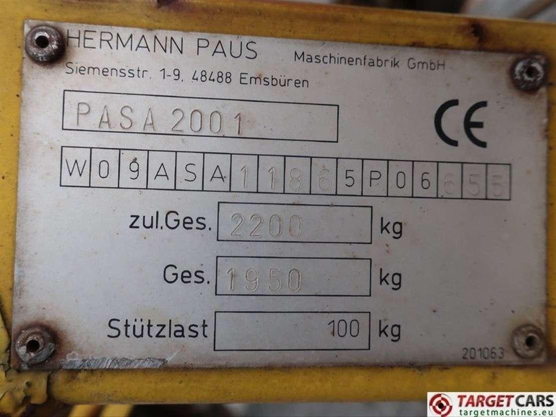 hoogwerker aanhangwagen Paus PAUS ASA 30WH Trailered Material Ladder Lift 3000cm 200KG Diesel 2006