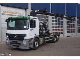 containersysteem vrachtwagen Mercedes Benz Actros 2544 6x2 Hiab 16 ton/meter laadkraan 2009