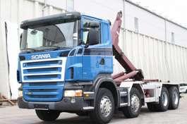 wissellaadbaksysteem vrachtwagen Scania R420 8x4 Manuell Retarder AHK E5 Leasing 2007