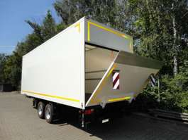 gesloten opbouw aanhanger Möslein TKO105 D-L 6 m  Tandem Koffer mit Ladebordwand 1,5 t und Durchladbar-- Neuf 2019