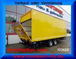 gesloten opbouw aanhanger Möslein TK0105D-L Gelb  Tandem Koffer mit Ladebordwand 1,5 t und Durchladbar-- Neuf 2019