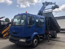 kipper vrachtwagen > 7.5 t Renault MIDLUM 220 DCI PALFINGER PKG 12001 TIPPER 2004