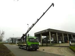 open laadbak vrachtwagen Mercedes Benz 3236 ACTROS 8X4 - EURO5 - HIAB 211 - KRAANWAGEN 2012