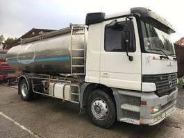 tankwagen vrachtwagen Mercedes Benz SUSP A LAMES/LAMES ETA CITERNE EN INOX 2COMP 1998