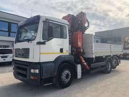 kipper vrachtwagen MAN 26.410 TGA KIPPER mit KRAN FASSI F270A.24