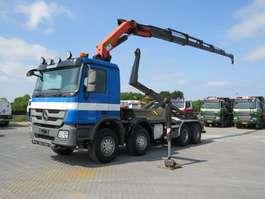containersysteem vrachtwagen Mercedes Benz 4144 8x4 Haaksysteem / Palfinger PK 33002  Euro 5 2011