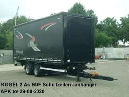 schuifzeil aanhanger Kögel 2 As Middenas aanhanger Schuifzeilen met vast dak + verstelbare boom 2004