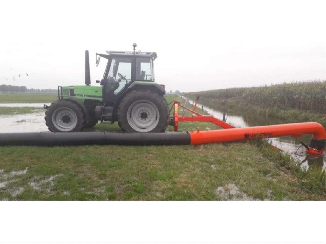 waterpomp machine Worteldoek en Bisonyl slang