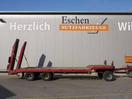 dieplader aanhanger Langendorf TUE 24/100-3, 3 Achs Drehschemel, hydr. Rampen, Blatt, BPW 2008