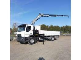open laadbak vrachtwagen Renault D 19.285 L - 4x2 - EURO 6 - 23.897 Km - MKG Laadkraan 10 T/M - ZO ALS NIEUW 2017