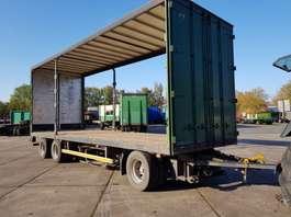platte aanhanger vrachtwagen Pacton 3 as