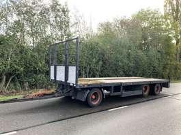 platte aanhanger vrachtwagen Draco 3 asser semi aanhanger liftas twistlocks 2003