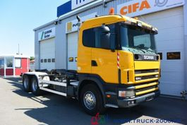 wissellaadbaksysteem vrachtwagen Scania 124G470  6x4 Multilift Knick- Schub Haken 25 to. 2002