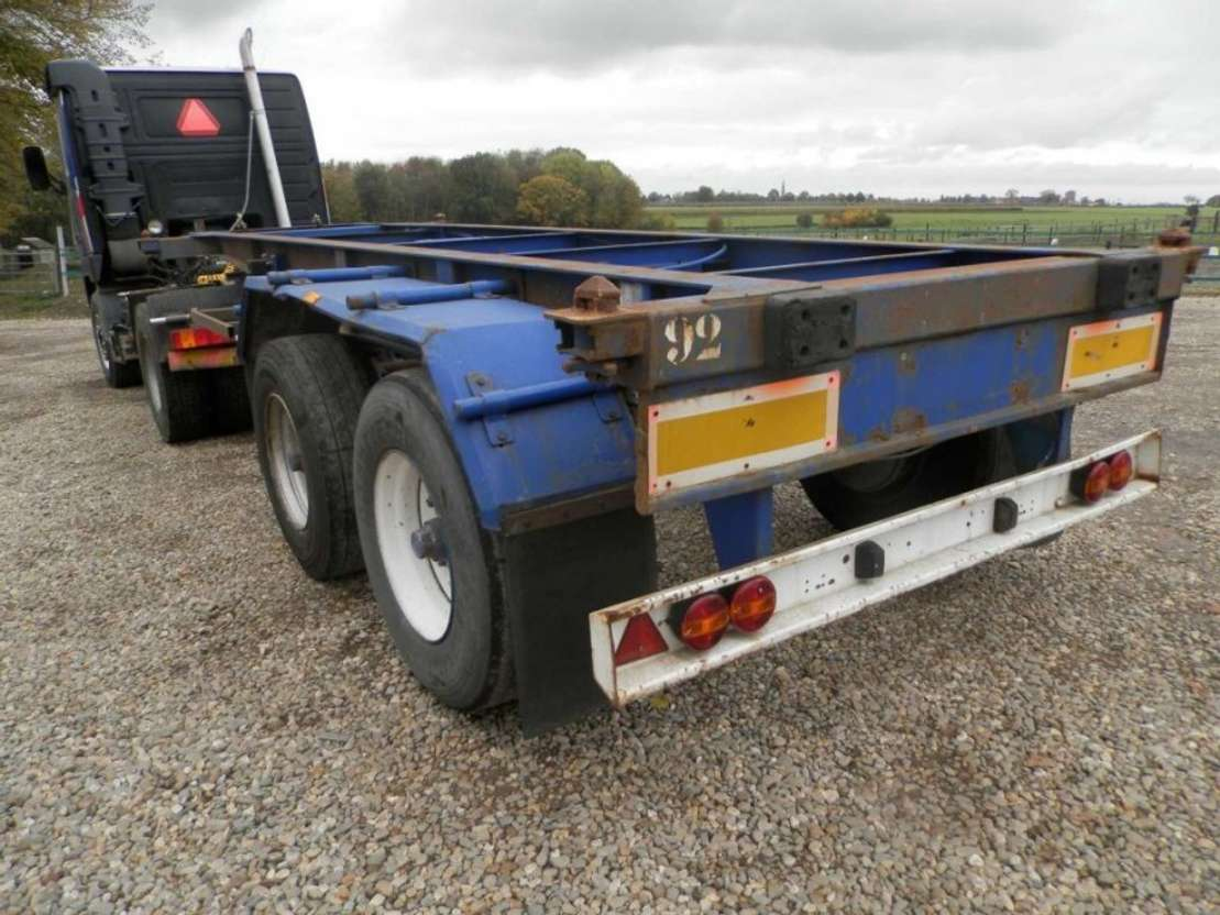 containersysteem oplegger Pacton 2-assige oplegger