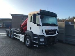 containersysteem vrachtwagen MAN TGS 35.470 8x4-4 BL-M kraan+containerhaak 2x 2020