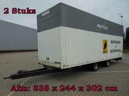 gesloten opbouw aanhanger Jumbo MEGA -TM120 Wipkar Gesloten - 2 Stuks 1990