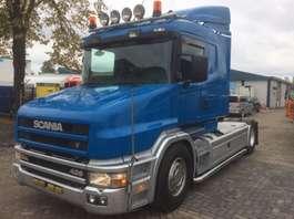 torpedo front trekker Scania T124 - full air - like new - dutch truck - hauber - bull nose 2000