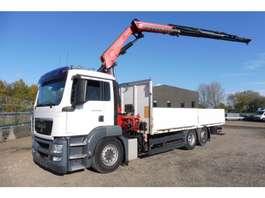 kraanwagen MAN TGS 26.400 LL - 6x2/4 - EURO 5 + FASSI 23 T/M LAADKRAAN  + PLATEAU 7 M 2010
