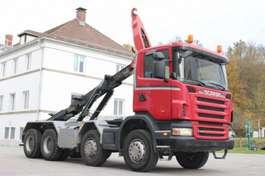 wissellaadbaksysteem vrachtwagen Scania G440 8x4 Manuell Retarder AHK E5 Leasing 2009