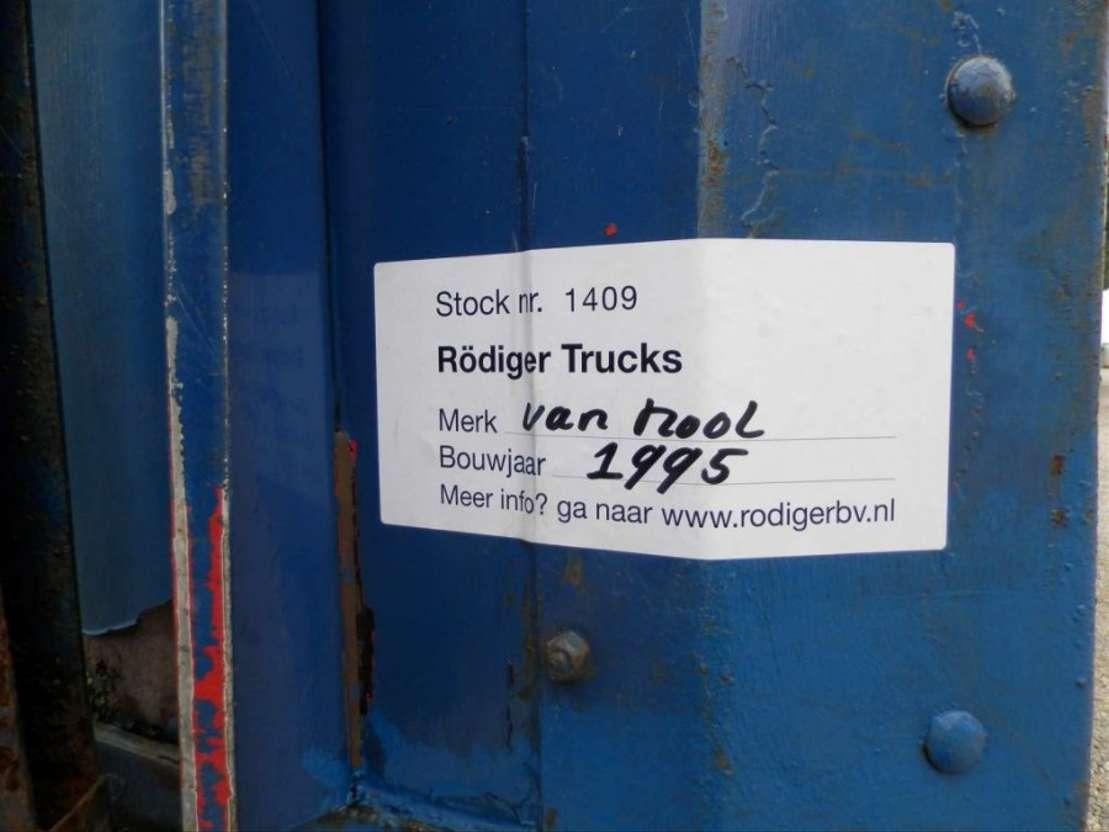 semi dieplader oplegger Van Hool 3-assige oplegger 1995