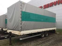 platte aanhanger vrachtwagen - ATP 10 , Tandem, Plane + Türen Luft, TOP 23/75  R 17,5 BORDwände 2001