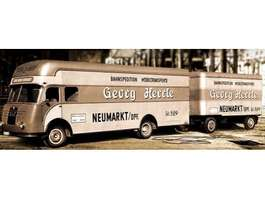 bakwagen vrachtwagen MAN verhuiswagen 1957