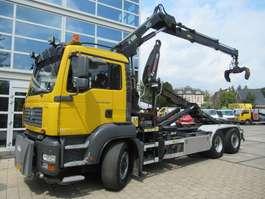 containersysteem vrachtwagen MAN TGA 26.320 6x4H-4 BL + HIAB XS 166 + 21T Multilift Haak 2008
