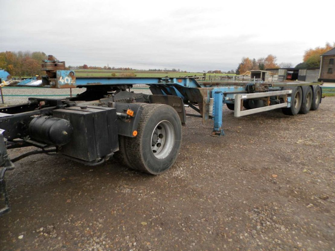 container chassis oplegger Renders 3-assige oplegger 1997