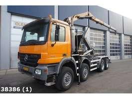 containersysteem vrachtwagen Mercedes Benz Actros 4141 AK 8x8 Euro 5 HMF 16 ton/meter Z-kraan 2007