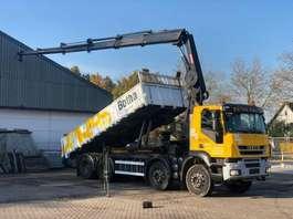 containersysteem vrachtwagen Iveco TRAKKER AD340T41/P - HIAB 288 EP5 HYPRO - 28TM CRANE/KRAN REMOTE - BELGI... 2008